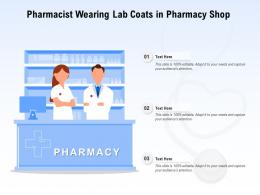 Pharmacist Wearing Lab Coats In Pharmacy Shop