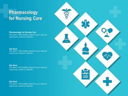 Pharmacology For Nursing Care Ppt Powerpoint Presentation Infographic Template
