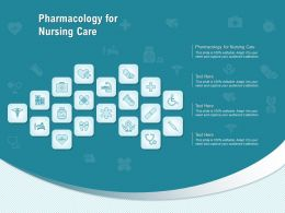 Pharmacology For Nursing Care Ppt Powerpoint Presentation Portfolio Portrait