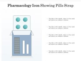 Pharmacology Icon Showing Pills Strap