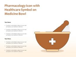Pharmacology Icon With Healthcare Symbol On Medicine Bowl