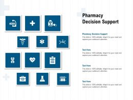 Pharmacy Decision Support Ppt Powerpoint Presentation Sample