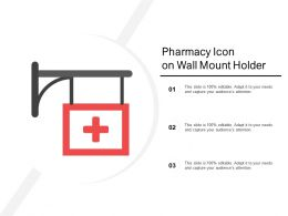 Pharmacy Icon On Wall Mount Holder