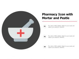 Pharmacy Icon With Mortar And Pestle