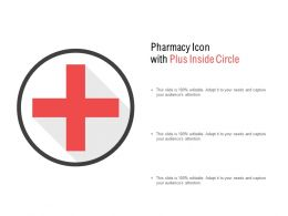 Pharmacy Icon With Plus Inside Circle