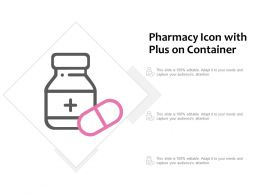 Pharmacy Icon With Plus On Container