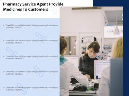 Pharmacy Service Agent Provide Medicines To Customers