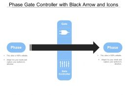 Phase Gate Controller With Black Arrow And Icons