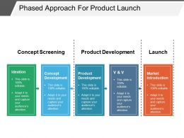 Phased Approach For Product Launch Example Of Ppt