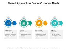 Phased Approach To Ensure Customer Needs