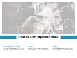 Phases ERP Implementation Ppt Powerpoint Presentation Slides Visuals Cpb