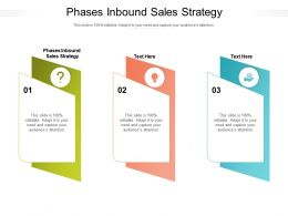 Phases Inbound Sales Strategy Ppt Powerpoint Presentation Layouts Designs Download Cpb