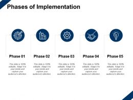 Phases Of Implementation Idea Bulb Growth Ppt Powerpoint Presentation Slides Ideas