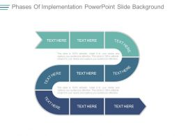 Phases Of Implementation Powerpoint Slide Background