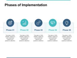 Phases Of Implementation Ppt Powerpoint Presentation Gallery Ideas