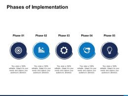 Phases Of Implementation Target Powerpoint Presentation Pictures Good