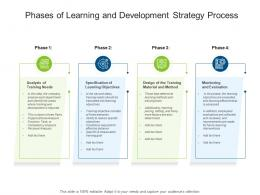 Phases Of Learning And Development Strategy Process
