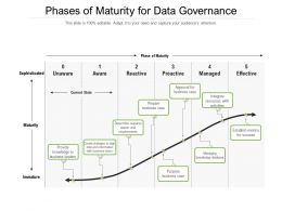 Phases Of Maturity For Data Governance