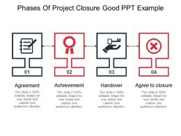 Phases Of Project Closure Good Ppt Example