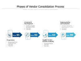 Phases Of Vendor Consolidation Process