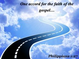 Philippians 1 27 One Accord For The Faith Powerpoint Church Sermon