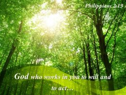 Philippians 2 13 God Who Works In You Powerpoint Church Sermon