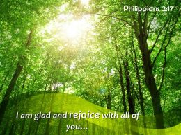 Philippians 2 17 I Am Glad And Rejoice Powerpoint Church Sermon