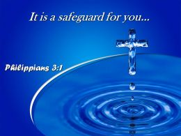 Philippians 3 1 It is a safeguard for you PowerPoint Church Sermon
