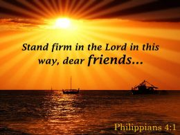 Philippians 4 1 The Lord In This Way Dear Powerpoint Church Sermon