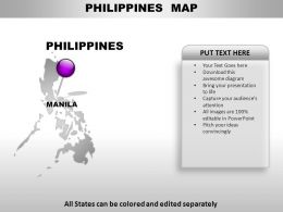 Philippines Country Powerpoint Maps