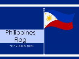 Philippines Flag Depicting National Hexagonal Location Representation