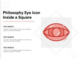 Philosophy Eye Icon Inside A Square