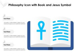Philosophy Icon With Book And Jesus Symbol
