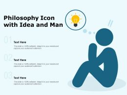 Philosophy Icon With Idea And Man