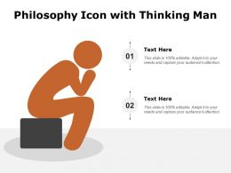Philosophy Icon With Thinking Man