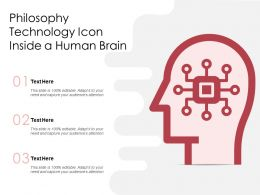Philosophy Technology Icon Inside A Human Brain