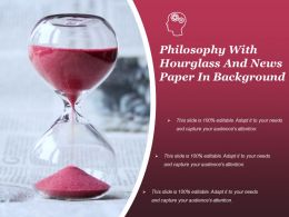 Philosophy With Hourglass And News Paper In Background