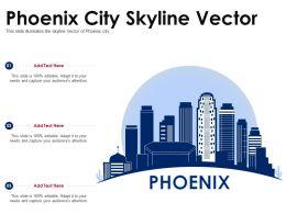 Phoenix City Skyline Vector Powerpoint Presentation PPT Template