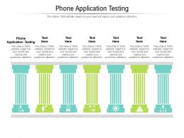 Phone Application Testing Ppt Powerpoint Presentation Professional Cpb