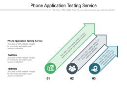 Phone Application Testing Service Ppt Powerpoint Presentation Pictures Information Cpb