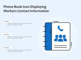 Phone Book Icon Displaying Workers Contact Information