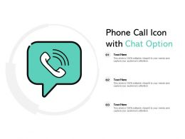 Phone Call Icon With Chat Option