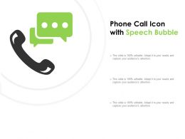 Phone Call Icon With Speech Bubble