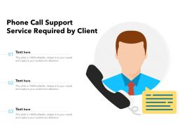 Phone Call Support Service Required By Client