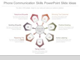Phone Communication Skills Powerpoint Slide Ideas