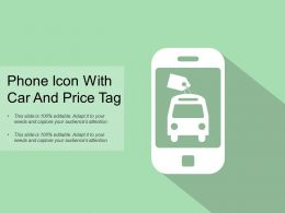 Phone Icon With Car And Price Tag