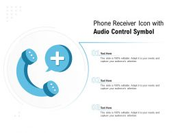 Phone Receiver Icon With Audio Control Symbol