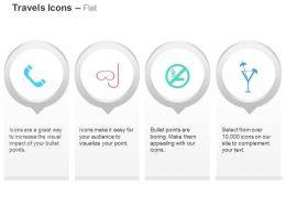 Phone Scuba Diving Drinks No Smoking Ppt Icons Graphics