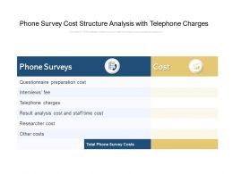 Phone Survey Cost Structure Analysis With Telephone Charges