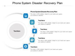 Phone System Disaster Recovery Plan Ppt Powerpoint Presentation Professional Picture Cpb